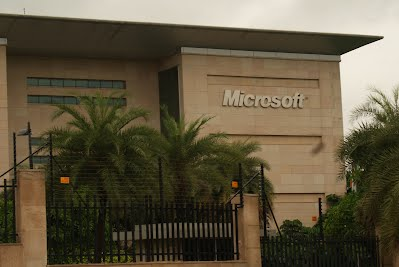 Buildings in hyderabad it struck me as very microsoft in style and