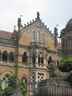 Lions outside Mumbai Victoria Terminus