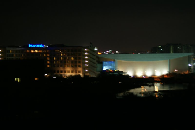 Novotel Hotel at night