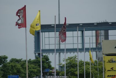 Colored Flags - Go karting Track at Hyderabad Airport