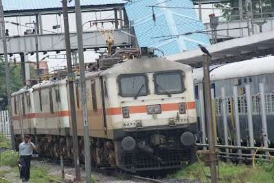 Indian Railways - WAP 7 Electric Locomotives at Secunderabad