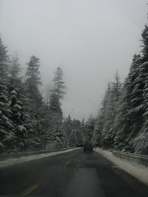 Snow covered route to Rainier