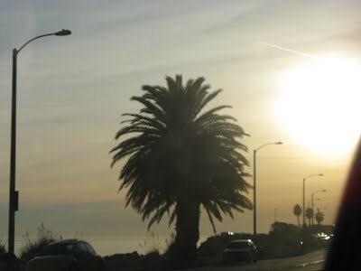 Malibu - Los Angeles, Dec 2007 - the sun is about to set