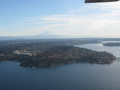 Mercer Island with Mount Rainier in the background