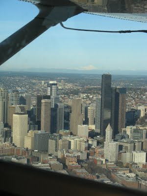 Downtown Seattle from the Seaplane