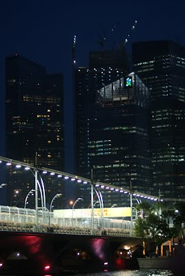 Singapore - around the Marina Bay at night