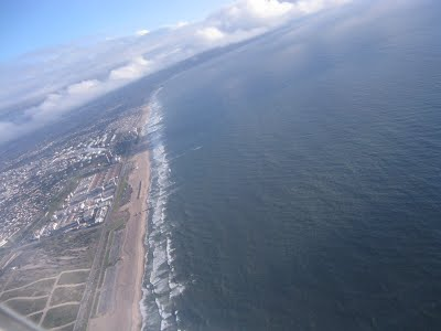 Los Angeles - View during take off - Pacific Ocean
