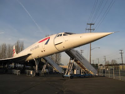 Concorde British Airways - at the Museum of Flight Seattle
