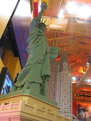 Statue of Liberty in Lego - Toys R Us and their Lego section