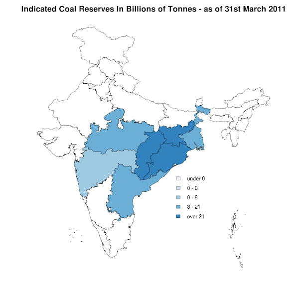 Indicated Coal Reserves - 31st March 2011