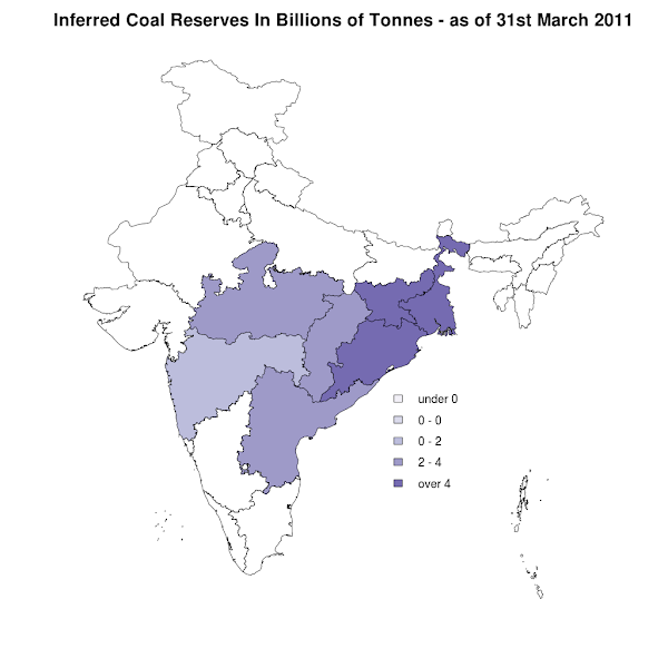 Inferred Coal Reserves - 31st March 2011