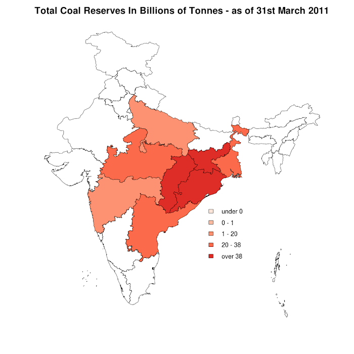 India's Total Coal Reserves - 31st March 2011