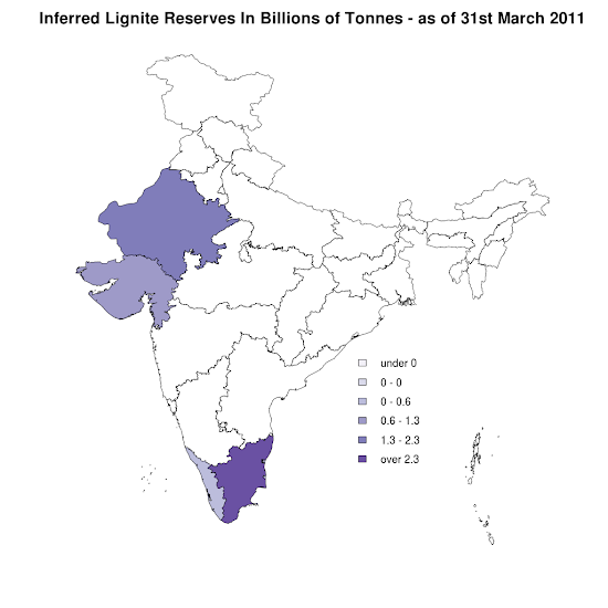 India - Inferred Lignite Reserves - 31st March 2011