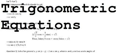 Trigonometry 4 (Solving Trigonometric Equations ) - Using