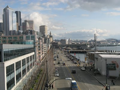 Seattle - buildings near the WaterFront, view of Safeco field