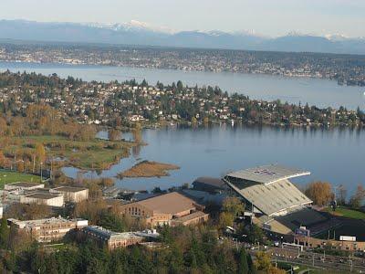 University of Washington - University district and the stadium