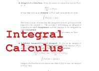 Integral Calculus- Introducing Definite and Indefinite Integrals