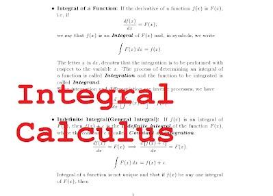 Integral Calculus- Introducing Definite and Indefinite Integrals